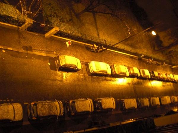 הצטברות קלה עד מתונה. שלג בפריז, נובמבר 2008