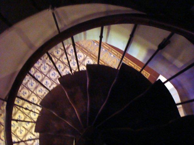המדרגות למטבח. צילום: אורית אדם
