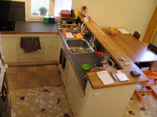 בית ברובע ה-14. המטבח המצויד