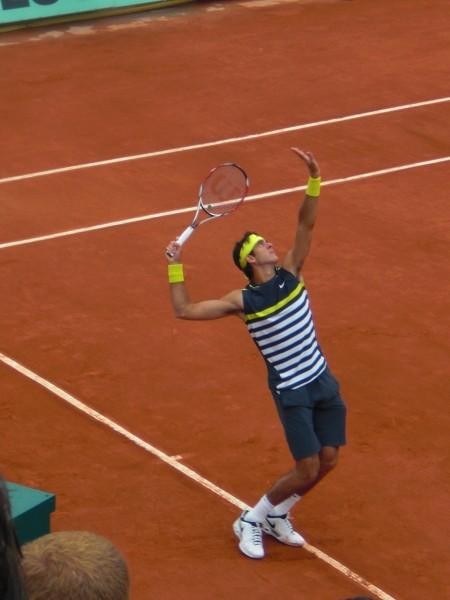 דל-פוטרו. המשיך עד לחצי הגמר הרולאן גארוס 2009