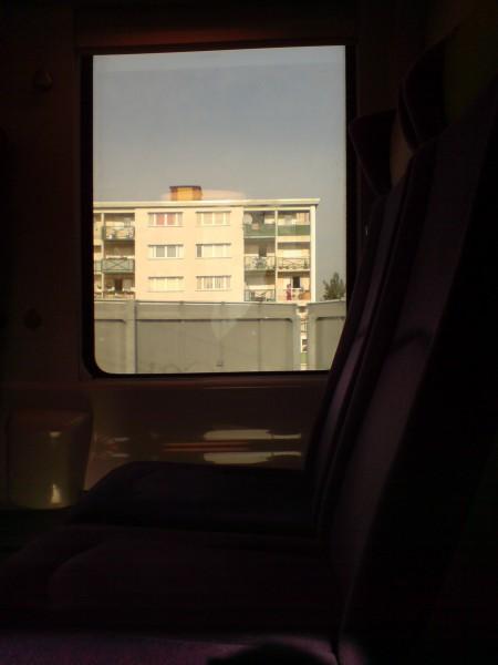מחלון הרכבת. ז'יברני-מאנט לה ז'ולי 14