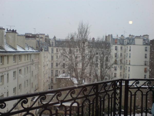 שלג על ביתי. הזמני