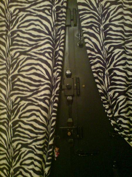 דלת הברזל והוילון המנומר. הטאץ' המעודן של בעל הדירה