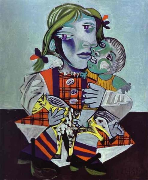 אבא צייר. Maya Picaso