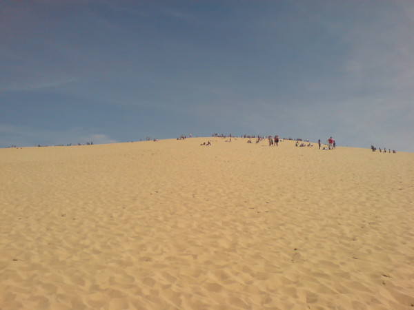 Dune de Pyla. זה נכון: ההרים גבוהים יותר בדרך חזרה