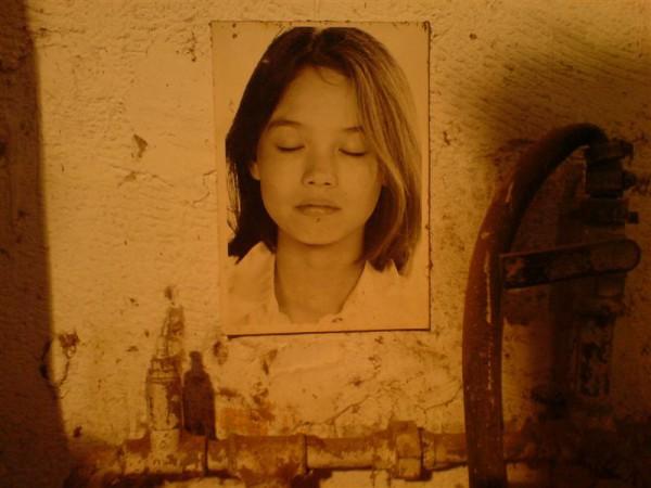 גנובה. תמונה שהיתה תלויה מאחורי העבודות בסטודיו של יונתן הירשפלד