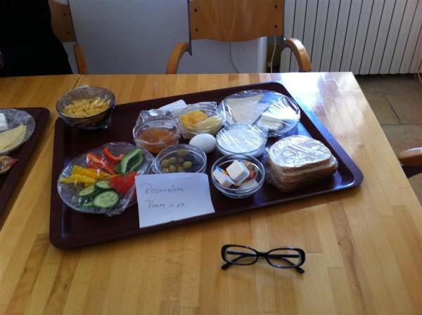 קרואסונים, גבינת שחת וקממבר בשלה. נוט
