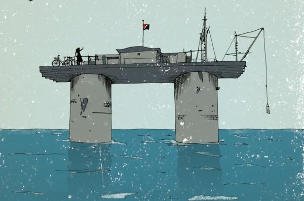 """רואה בלב ים, מתוך העטיפה של """"סילנד"""" איור: רעיה קרס"""