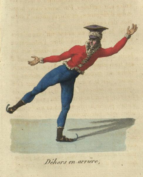 """תחריט מתוך המדריך """"המחליק האמיתי"""", Ambroise Tardieu, 1813"""