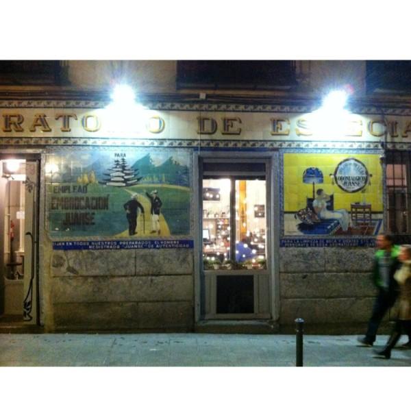 מסעדה ב-Malasania, אזור שהוא מקבילה לשינקין של פעם, אם היא היתה ספרדייה